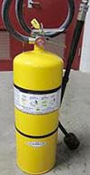 A dry powder fire extinguisher